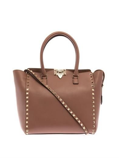 Valentino Rockstud double-handle small tote