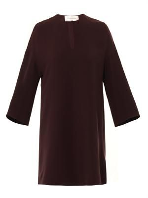 Flared-sleeve tunic dress