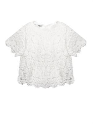 Bow-detail lace top