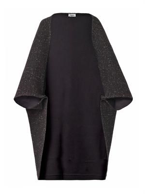 Wool melange cape