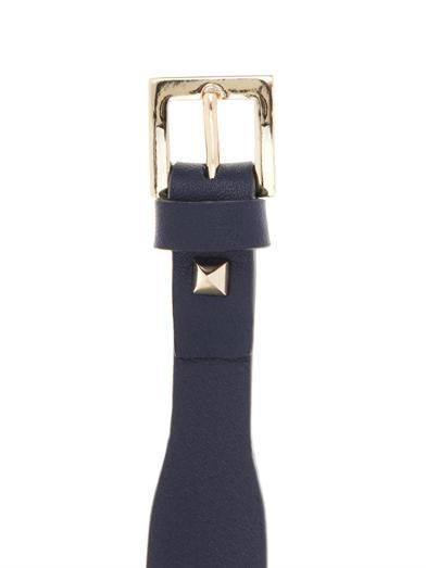 Valentino Rockstud navy leather bracelet