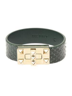Rockstud snakeskin bracelet