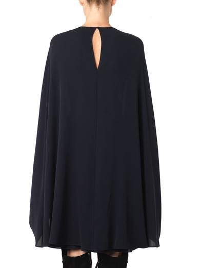 Valentino Cape-back silk-crepe dress