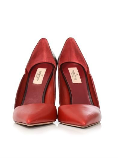 Valentino Tri-colour leather pumps