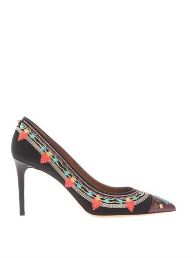 Valentino Kilim embroidered pumps