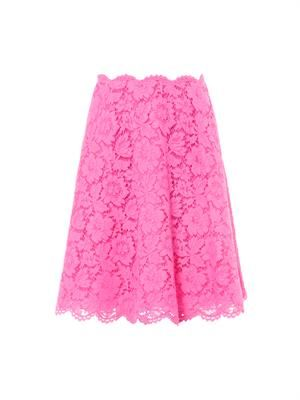 Lace knee-length skirt