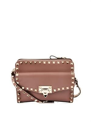 Rockstud removable pouch cross-body bag