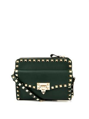 Rockstud removable-pouch cross-body bag