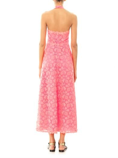 Valentino Fluid Garden halterneck dress