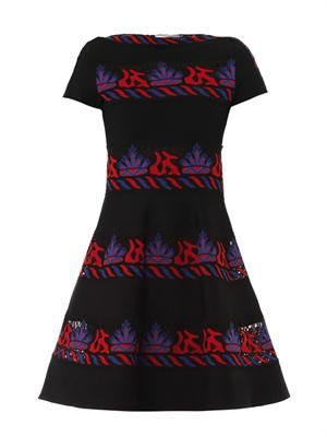 Embroidered tribal lace dress
