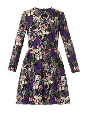 Camu butterfly-macramé dress
