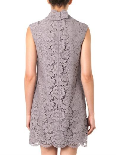 Valentino Bow-detail lace dress