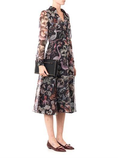 Valentino Fantastic Animals-print silk dress