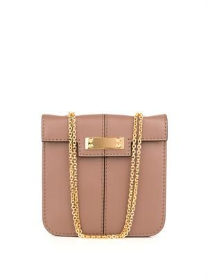 Close Up leather shoulder bag