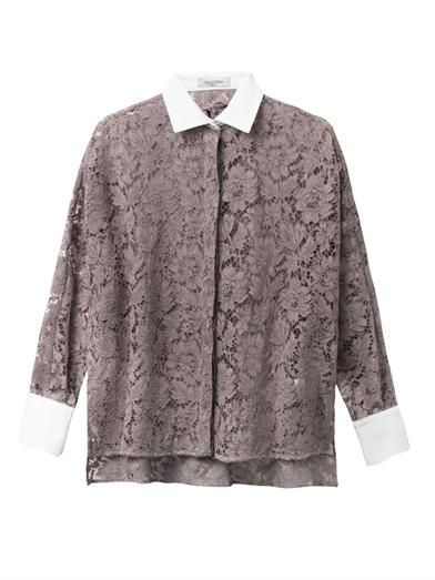 Valentino Bi-colour lace shirt