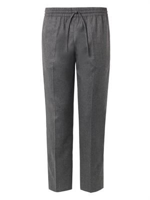 Wool and cashmere-blend jogging trousers