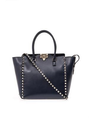 Rockstud double handle tote