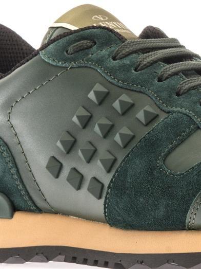 Valentino Rockstud leather trainers