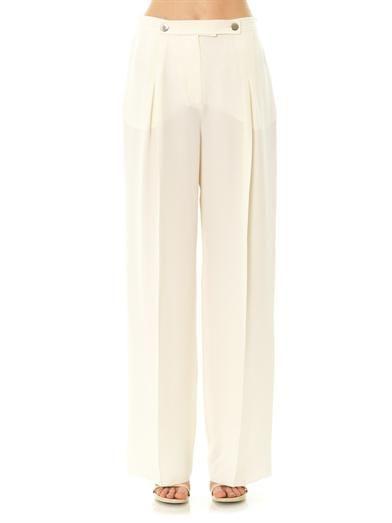 Valentino Mikado silk wide-leg trousers