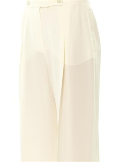 Valentino Mikado silk wide-leg trousers