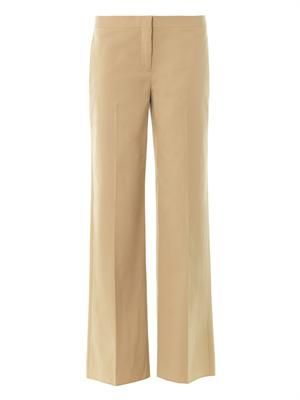 Cotton wide-leg trousers