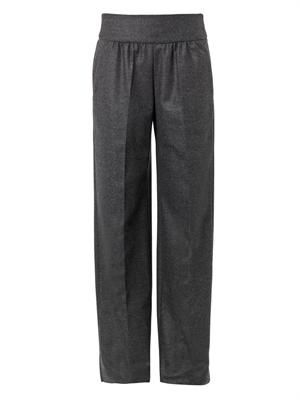 Wide-leg wool trousers