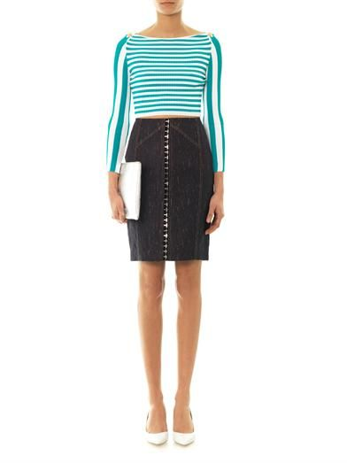Versace Denim pencil skirt