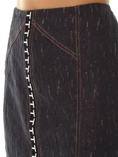 Versace Denim pencil skirt