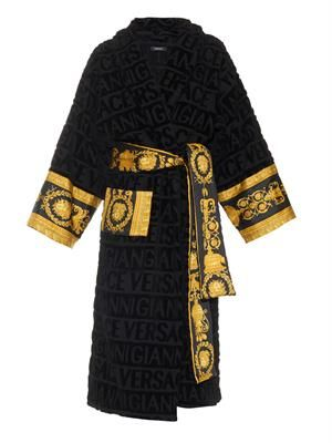 Signature-print bathrobe