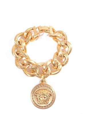 Gold-plated emblem coin bracelet