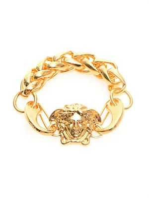 Medusa head gold-plated bracelet