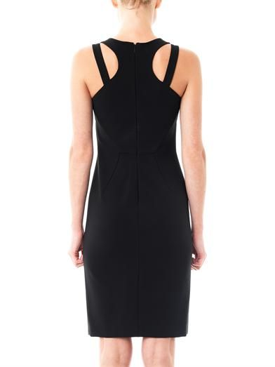 Versace Interlock jersey racer-back dress