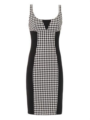 Gingham fitted dress