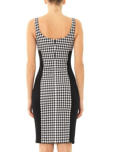 Versace Gingham fitted dress
