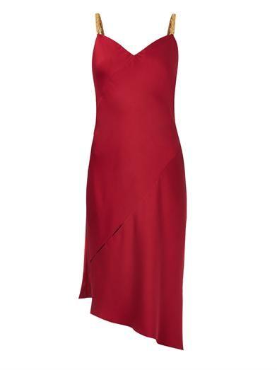 Versace Bias-cut silk-satin dress