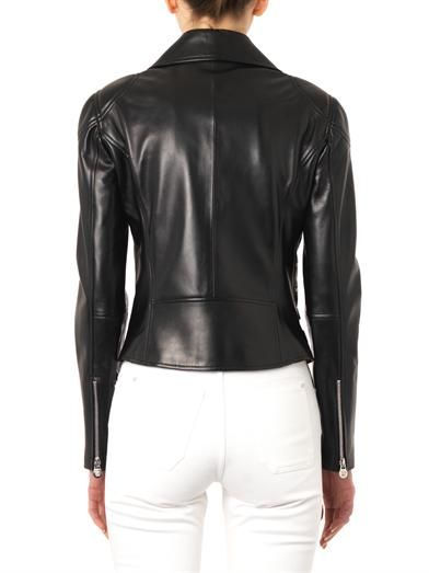 Versace Classic leather biker jacket