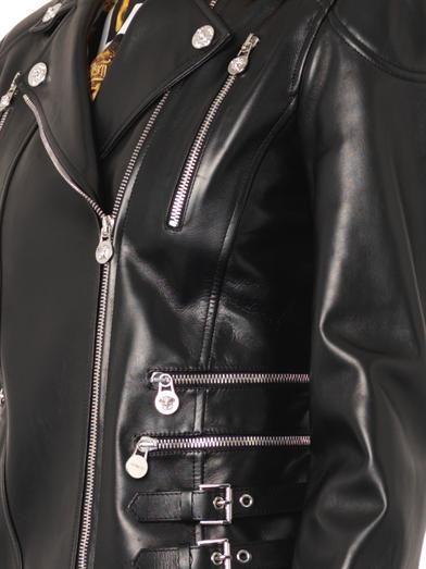 Versace Classic leather biker jacket