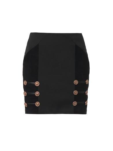Versace Suede panel mini skirt