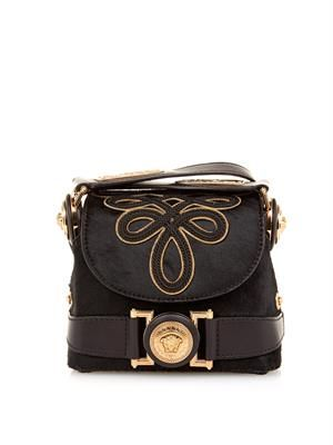 D Signature calf-hair cross-body bag