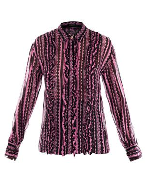 Memphis ruffled silk shirt