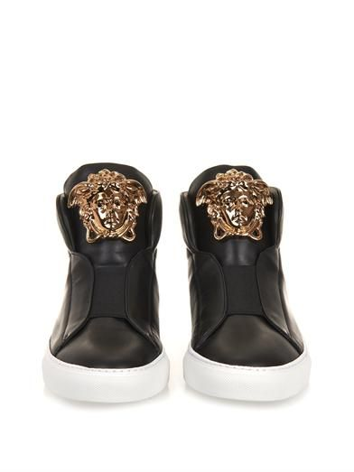 Versace Idol leather high-top trainers