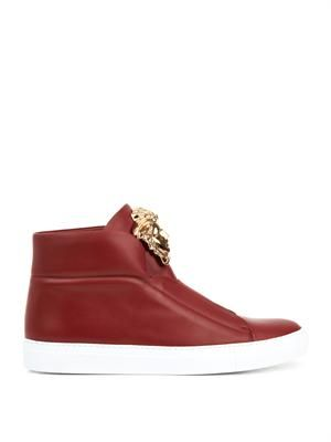 Idol leather high-top trainers