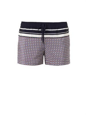 Star-print silk shorts