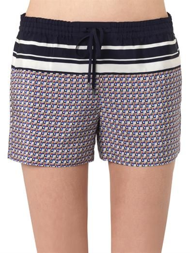 Vince Star-print silk shorts