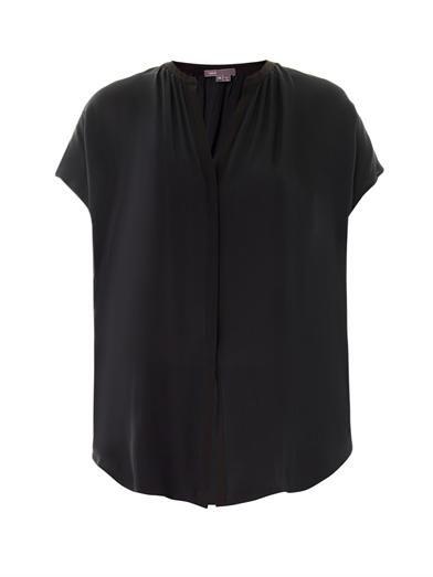 Vince Contrast placket blouse
