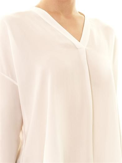 Vince Long sleeve silk blouse