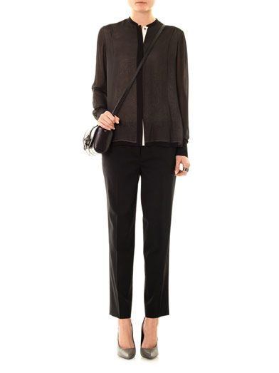 Vince Double layer silk blouse