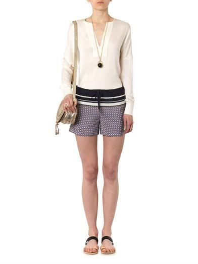 Vince Trapunto silk blouse