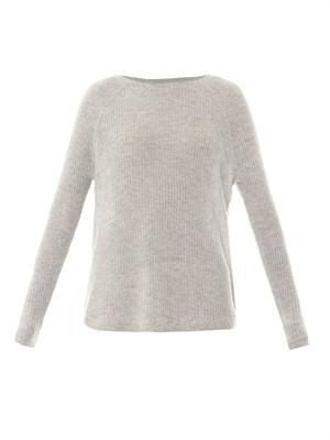 Deep raglan-sleeve cashmere sweater