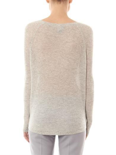 Vince Deep raglan-sleeve cashmere sweater